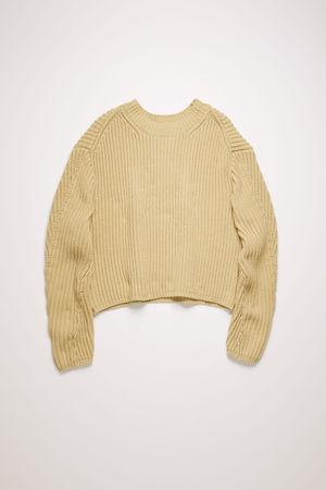 Acne Studios  FN-WN-KNIT000222 Kühles Beige  Pullover aus Rippstrick grau