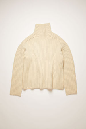 Acne Studios  FN-WN-KNIT000261 Oat beige  High neck ribbed sweater braun