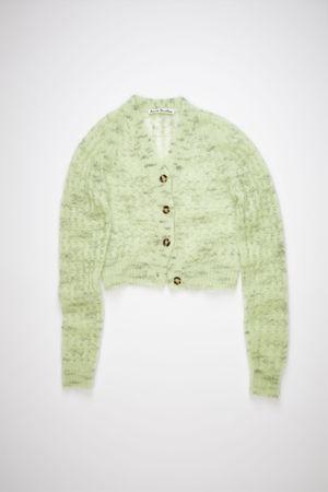 Acne Studios  FN-WN-KNIT000325 Mint green Cropped cardigan grau
