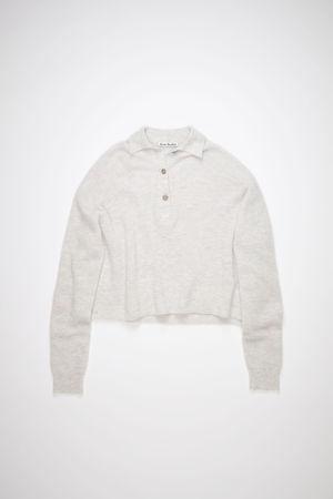 Acne Studios  FN-WN-KNIT000331 Pale pink melange Ribbed polo sweater grau