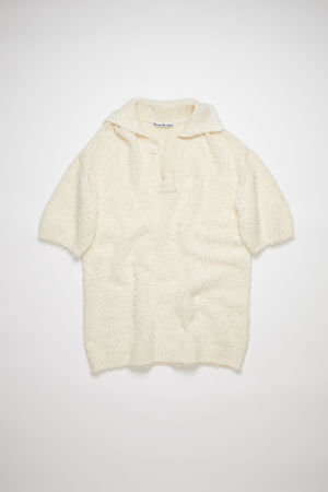 Acne Studios  FN-WN-KNIT000337 Cream beige Brushed cotton polo