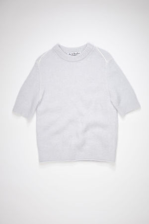 Acne Studios  FN-WN-KNIT000340 Ice blue Short sleeve sweater grau