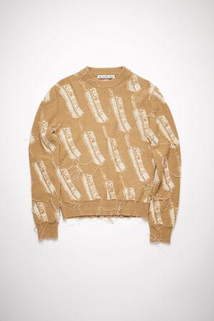 Acne Studios  FN-WN-KNIT000355 Camel brown  Phone sweater grau