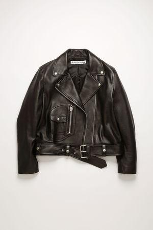Acne Studios  FN-WN-LEAT000120 Black  Leather biker jacket grau