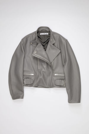Acne Studios  FN-WN-LEAT000142 Steel grey Leather biker jacket grau