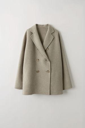 Acne Studios  FN-WN-OUTW000096 Oatmeal melange 1 Double breasted jacket grau