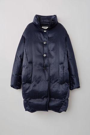 Acne Studios  FN-WN-OUTW000155 Marineblau  Cocoon-Daunenmantel grau