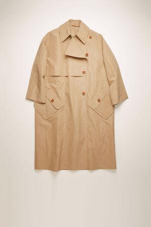 Acne Studios  FN-WN-OUTW000246 Braun  Trenchcoat aus technischer Baumwolle braun