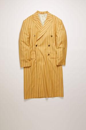 Acne Studios  FN-WN-OUTW000259 Blassorange  Zweireihiger Mantel mit Nadelstreifen braun