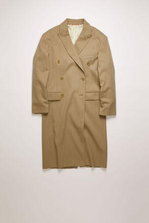 Acne Studios  FN-WN-OUTW000271 Beige  Zweireihiger Mantel grau
