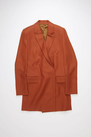 Acne Studios  FN-WN-OUTW000440 Cognac brown  Double-breasted coat grau