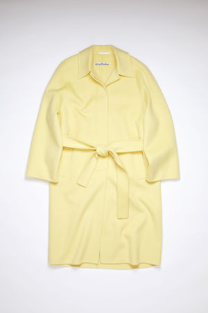 Acne Studios  FN-WN-OUTW000454 Vanilla yellow  Belted coat