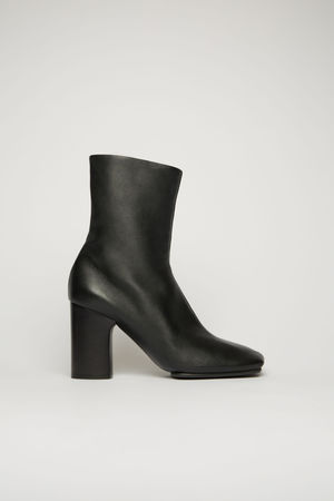 Acne Studios  FN-WN-SHOE000336 Black  Leather ankle boots grau