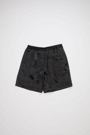 Acne Studios  FN-WN-SHOR000047 Black Satin shorts grau