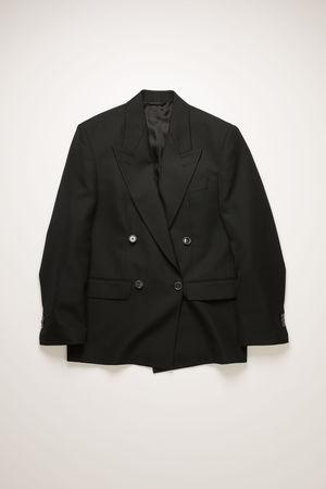 Acne Studios  FN-WN-SUIT000196 Black Double-breasted suit jacket grau