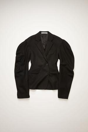 Acne Studios  FN-WN-SUIT000203 Black  Puff-sleeve suit jacket grau