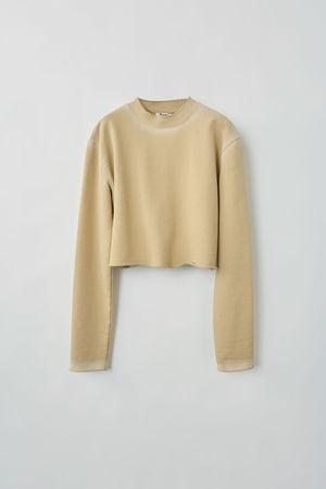 Acne Studios  FN-WN-SWEA000053 Weizenbeige  Kurz geschnittenes Sweatshirt grau