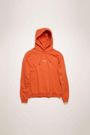 Acne Studios  FN-WN-SWEA000077 Mohnrot Kapuzen-Sweatshirt mit gewendetem Logo braun