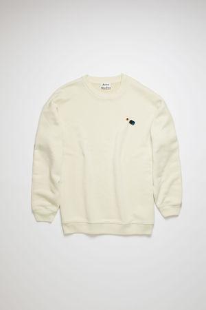 Acne Studios  FN-WN-SWEA000082 Optisches Weiß Sweatshirt mit gewendetem Label braun