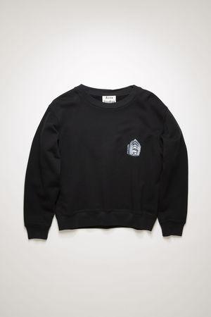 Acne Studios  FN-WN-SWEA000086 Schwarz  Sweatshirt mit Hauptquartier-Print grau