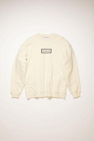 Acne Studios  FN-WN-SWEA000105 Warm white  Reverse-label sweatshirt braun
