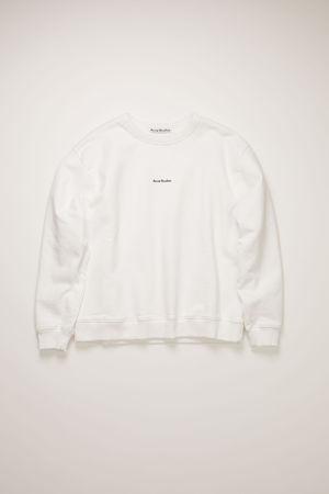 Acne Studios  FN-WN-SWEA000130 Optic White  Logo sweatshirt braun