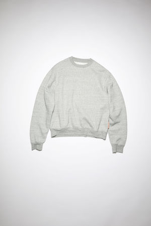 Acne Studios  FN-WN-SWEA000167 Marmorgrau meliert  Sweatshirt mit Rundhalsausschnitt
