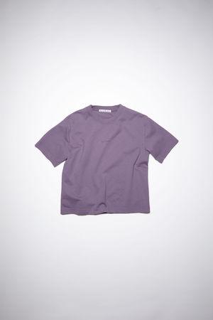 Acne Studios  FN-WN-TSHI000196 Lila  Logo-T-Shirt