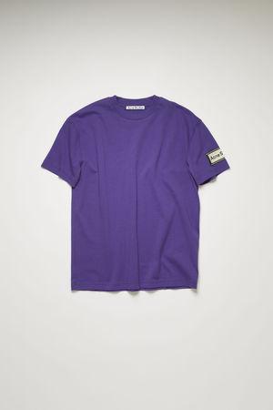 Acne Studios  FN-WN-TSHI000245 Electric purple  Logo-label t-shirt grau