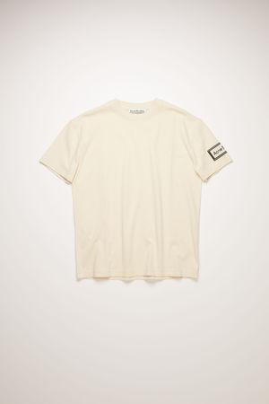 Acne Studios  FN-WN-TSHI000245 Warm white  Logo-label t-shirt grau