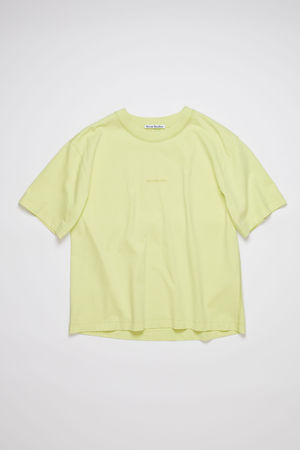 Acne Studios  FN-WN-TSHI000298 Lemon yellow Logo t-shirt grau