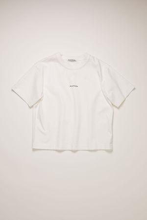 Acne Studios  FN-WN-TSHI000298 Optic White  Logo-print t-shirt grau