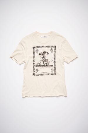 Acne Studios  FN-WN-TSHI000340 Coconut White Printed t-shirt