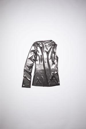 Acne Studios  FN-WN-TSHI000341 Anthracite grey Asymmetric t-shirt grau