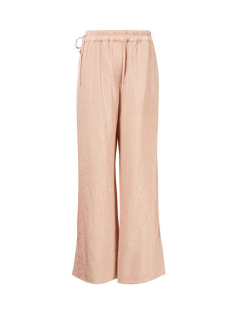 Acne Studios  - Hose mit geradem Bein und Knittereffekt Rosé orange