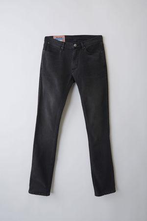 Acne Studios  Max Used Blk Farbe  Jeans in schmaler Passform mit niedrigem Bund grau