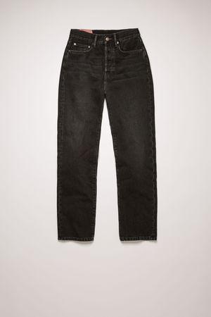 Acne Studios  Mece Vintage Black Schwarz  Gecroppte Jeans in gerader Passform grau