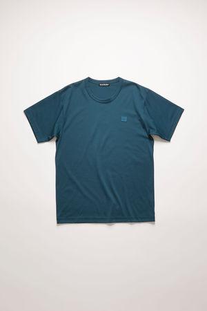 Acne Studios  Nash Face Mitternachtsblau T-Shirt in klassischer Passform grau