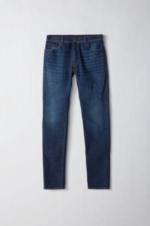 Acne Studios  North Dark Blue Farbe  Jeans in enger Passform mit mittelhohem Bund grau