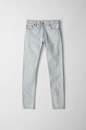 Acne Studios  North Lt Blue Farbe Jeans in enger Passform grau