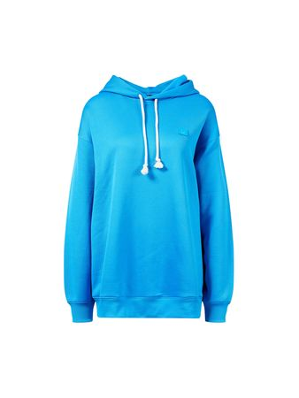 Acne Studios  - Oversize-Hoodie 'Farrin Face Neon' Blau blau