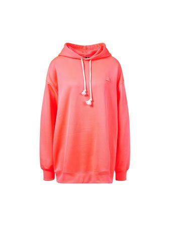 Acne Studios  - Oversize-Hoodie 'Farrin Face Neon' Pink rot
