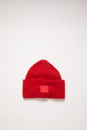 Acne Studios  Pansy N Face Rot  Pansy N Face Beanie braun