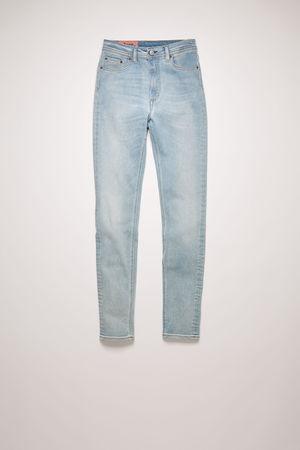 Acne Studios  Peg Lt Blue Light blue  Jeans in enger Passform mit hohem Bund grau