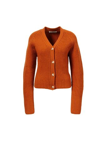 Acne Studios  - Rippstrick-Cardigan Orange