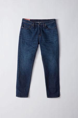 Acne Studios  River Dark Blue Farbe  Jeans mit schmal zulaufendem Bein grau