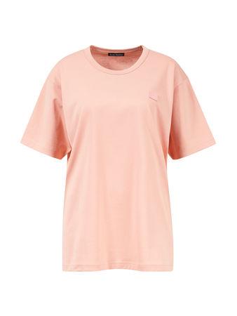 Acne Studios  - T-Shirt 'Nash Face' Pale Pink 100% Baumwolle Das Model ist 180 cm und trägt Größe S Maße der Größe S: - Gesamtlänge: 70 cm - Brustweite: 51 cm orange
