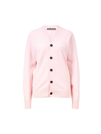 Acne Studios  - Woll-Cardigan 'Keve Face' Pink beige