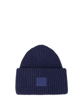 Acne Studios  - Woll-Mütze Marineblau
