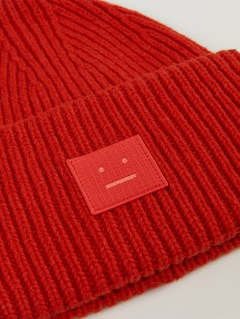 Acne Studios  - Woll Mütze 'Pansy N Face' Rot rot